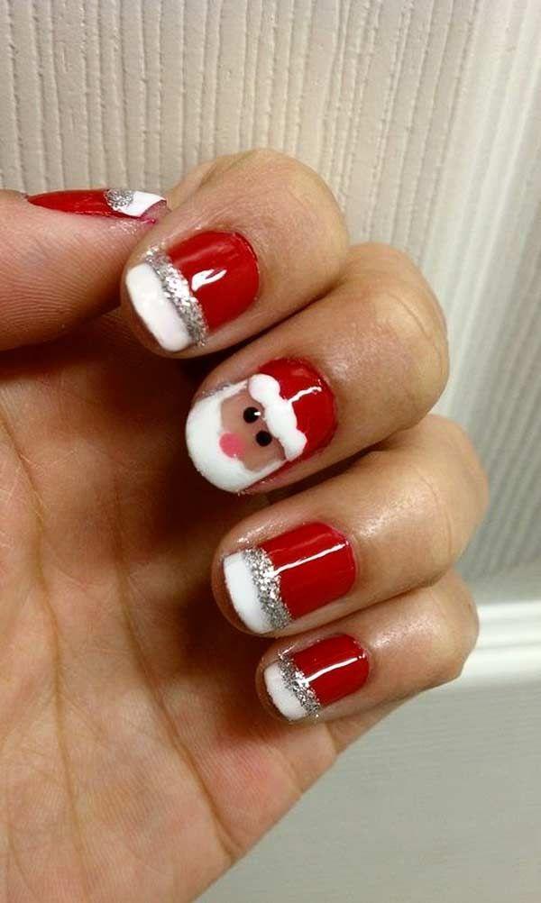 Cute Santa Nail Art