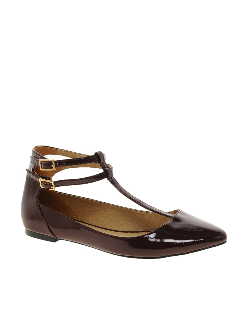 Faith Ashford Double Strap Pointed Flat Shoes