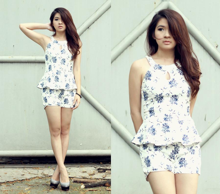 Floral Jumpsuit by Anastasia Siantar