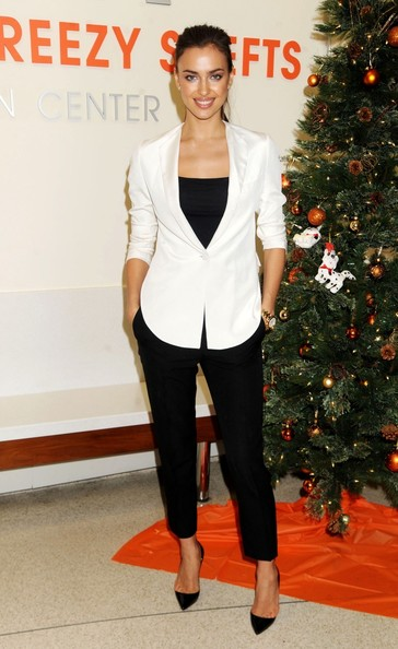 Irina Shayk -Celebrities with White Blazer