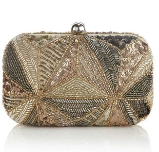 Mika Sequin Box Clutch