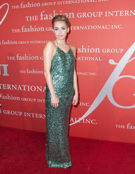 Miley Cyrus with Marc jacobs Beaded Dress