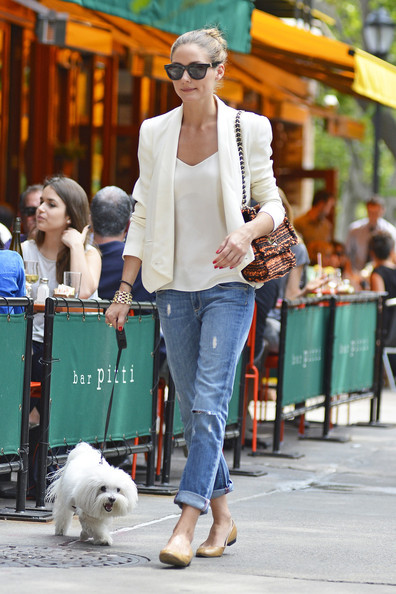 Olivia Palermo- Celebrities with White Blazer