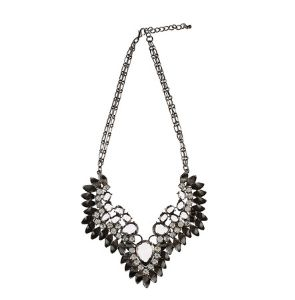 Pieces Sumina gunmetal necklace