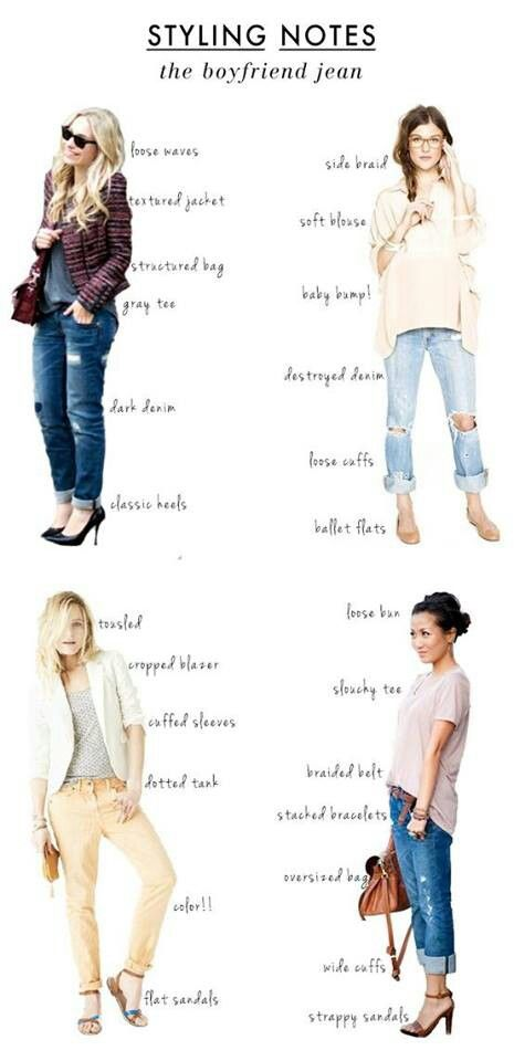 Ways to style a boyfriend jean