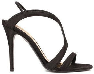 Alexander McQueen Silk Satin Evening Sandal