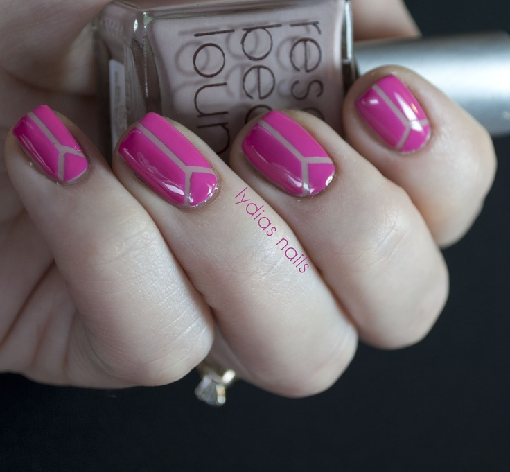Creative Pink Neon Nails Art