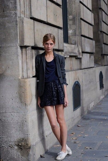 Flared Skirt And Sneakers