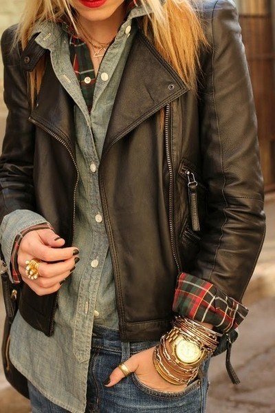 Leather Jacket With Accessories