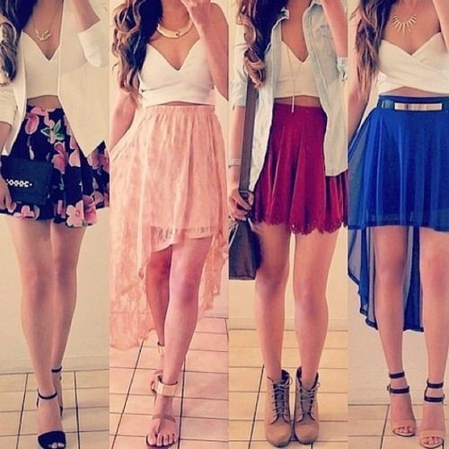 Lovely Mini Flared Skirts
