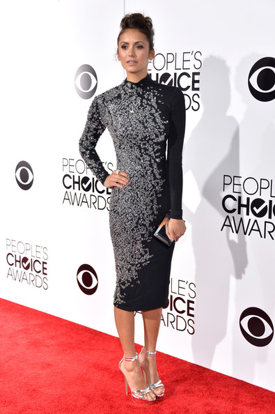 Nina Dobrev At People's Choice Awards 2014