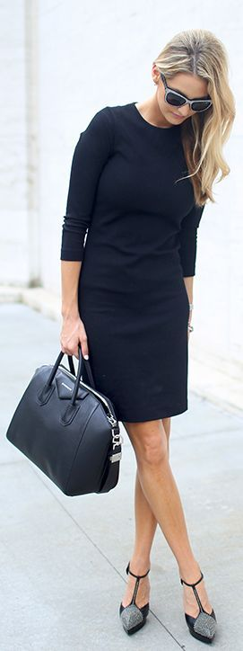 Office Style Black Dress