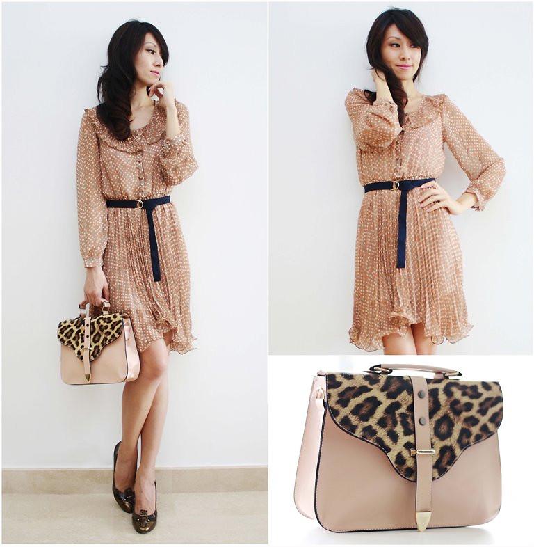 Pink leopard bag vintage outfit