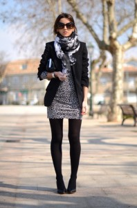 Printed scarf fashion style