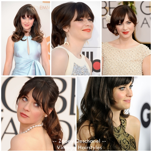 The Most Adorable Zooey Deschanel Hairstyles