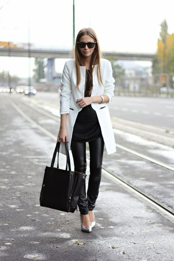 White Coat Dress Outfit