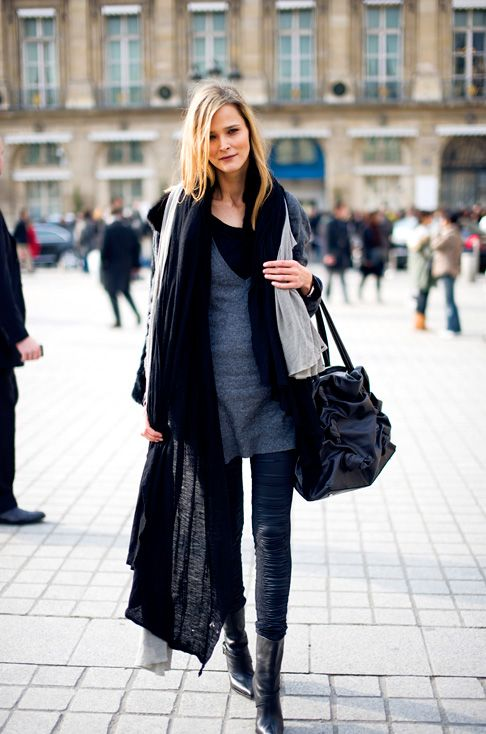 great black scarf