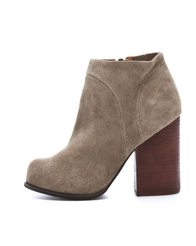 Jeffrey Campbell|Hanger Suede Raw Booties