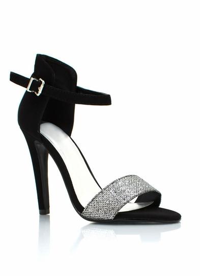 Glittery Black Tie Affair Heels