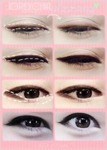 Korean Eyeliner Steps