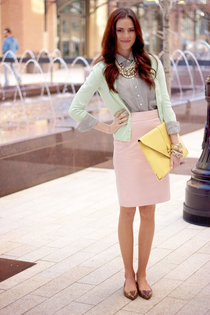 Pastel color for work outfit