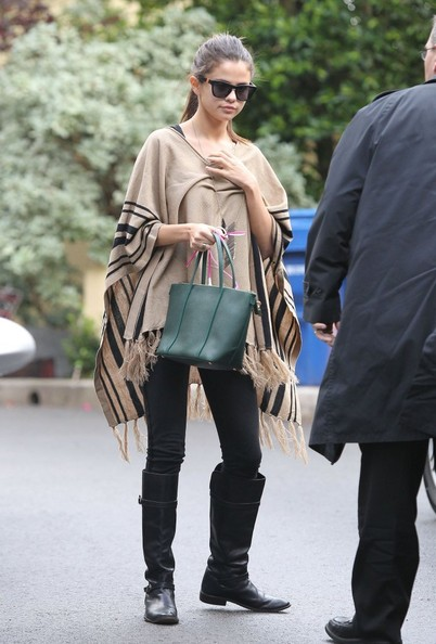 Selena Gomez Street Style With Cape