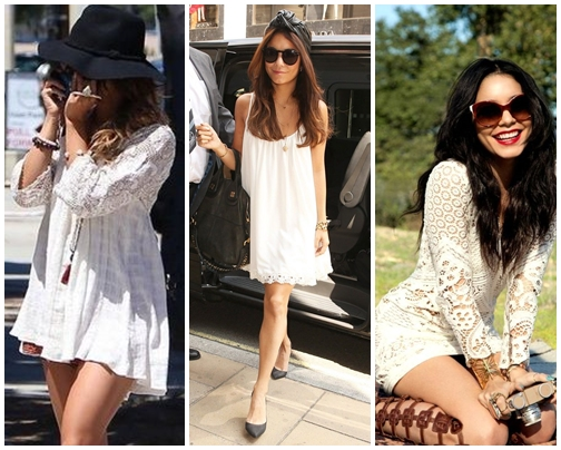 White Boho Chcic Dress