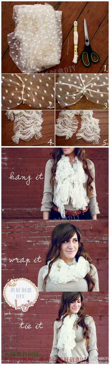 beautiful DIY Scarf
