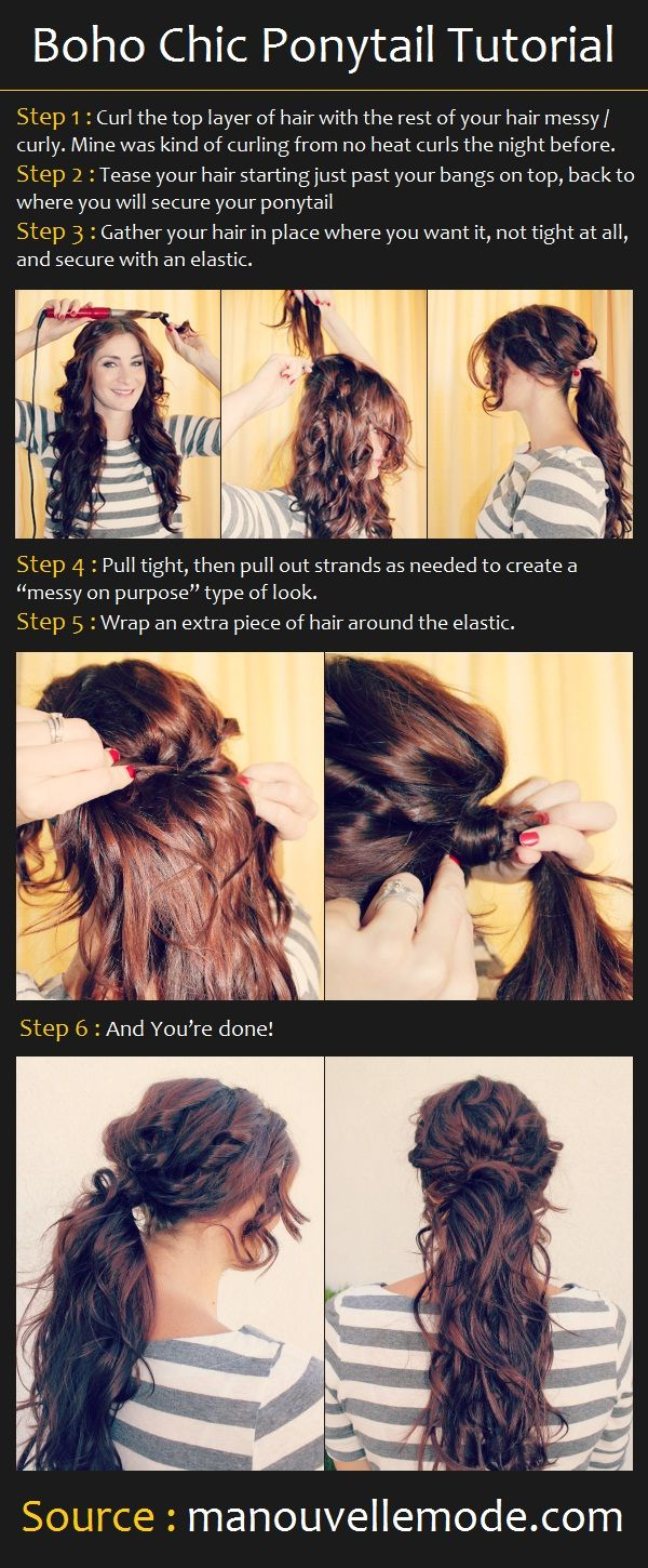 Boho Chic Ponytail Tutorial