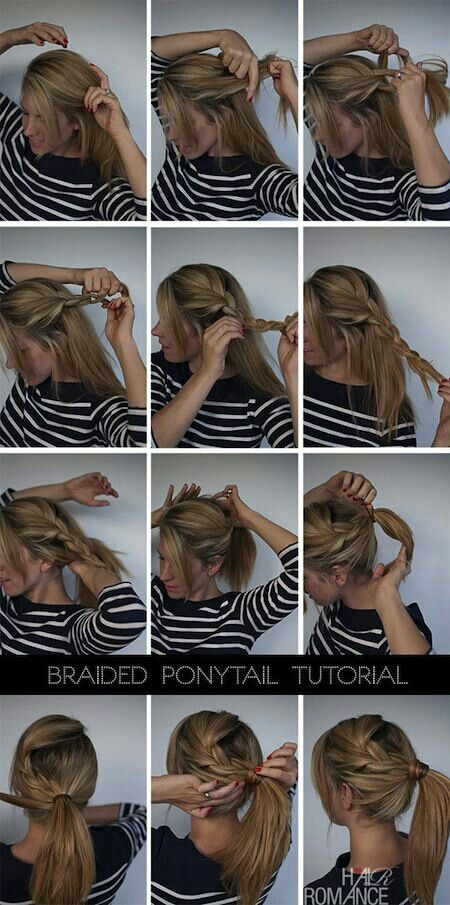 Braided Pony tail tutorials