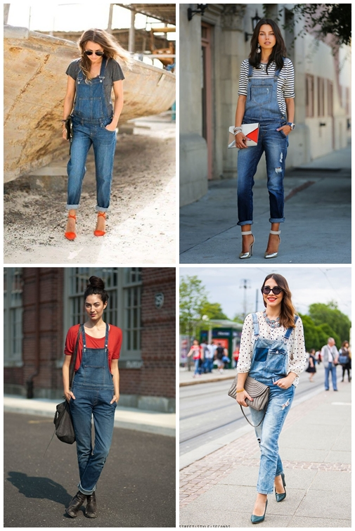 Outfit With Long Denim Overalls