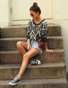 casual fashion with tribal sweater
