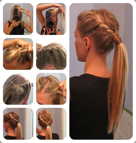 long hair ponytail