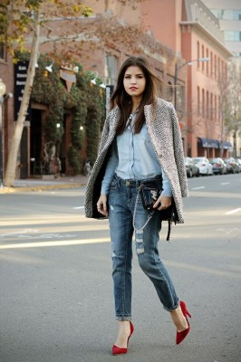 Weekly denim - OUTFIT - FASHION BLOGGER - A TOUCH OF RED