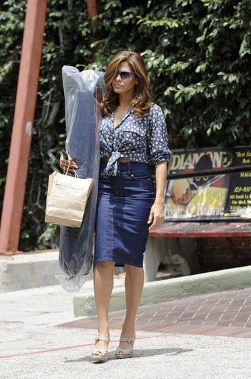 Eva Mendes added a floral print blouse from ASOS and her go-to ...