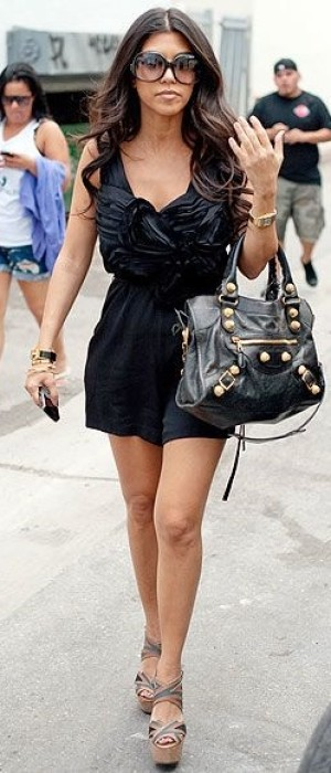 Perfect little black dress and wedges for summer