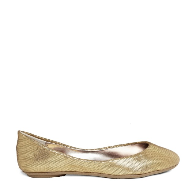 Steve Madden P-Heaven Gold Glitter Flat Shoe