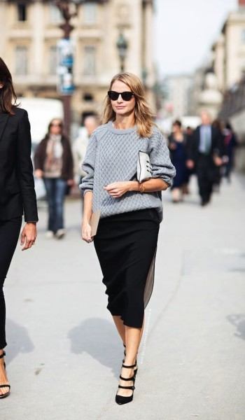 Picked Color Play Neutral With Gray Outfit Ideas