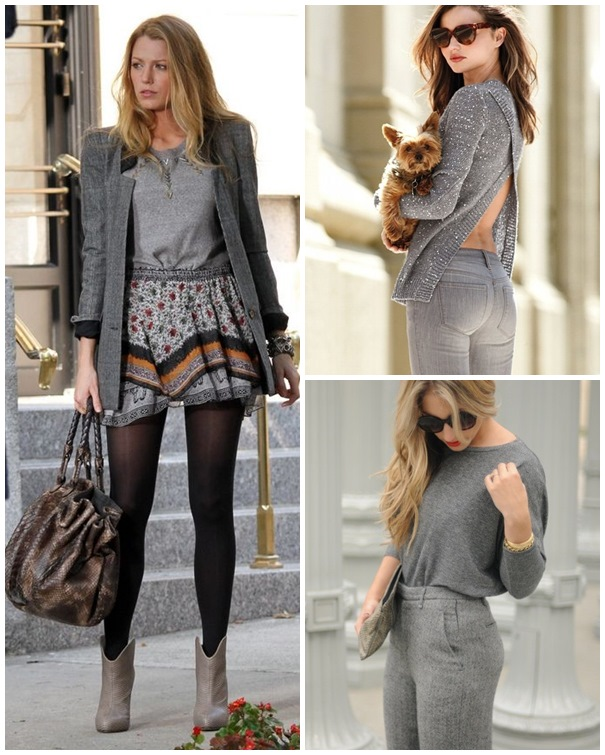 Picked Color Play Neutral With Grey Outfit Ideas Celebrity Fashion Trends And Beauty Tips