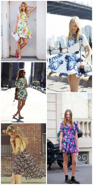 Floral Dress Outfit Inspirations