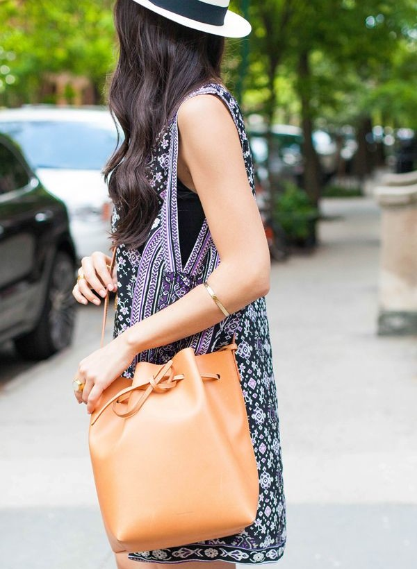 Fashion Outfit With Bucket Bag