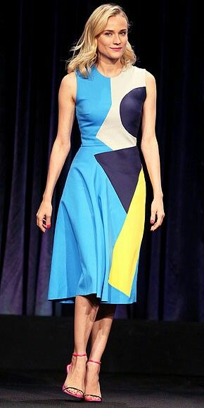 Diane Kruger in Roksanda Ilincic Dress