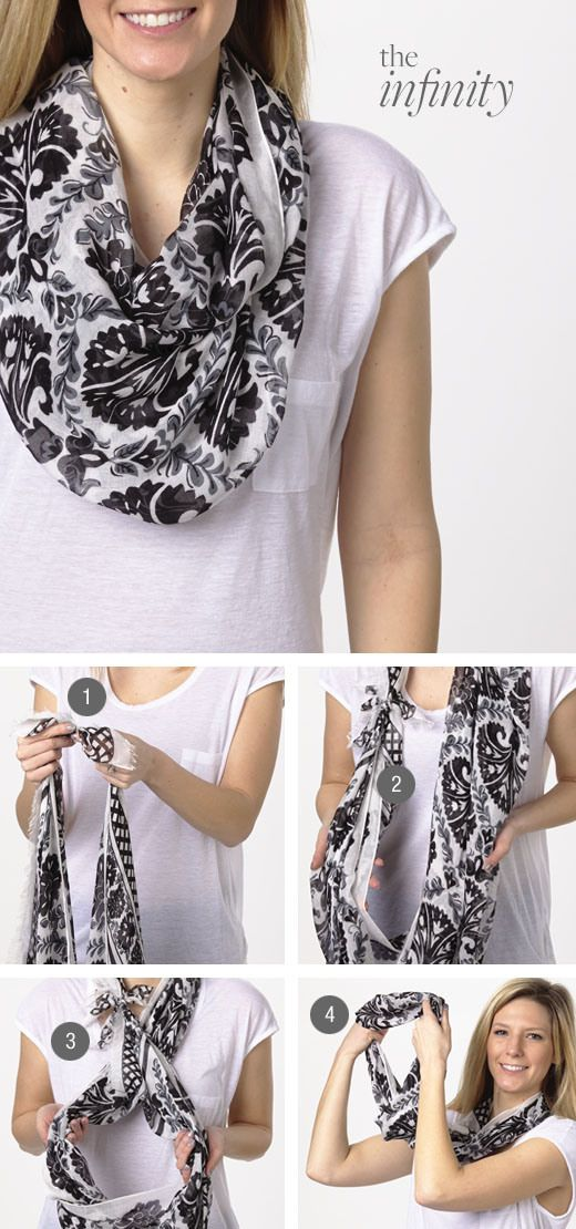 Easy Way To Tie Infinity Scarf 187 Celebrity Fashion Outfit