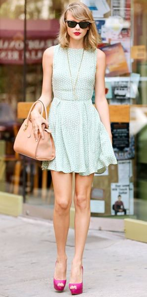 Taylor Swift Mint Dress