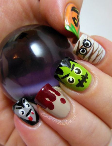 Scary Nail Art Design Inspirations