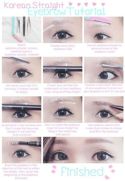 Easy to Try: Korean Eyebrow Tutorial