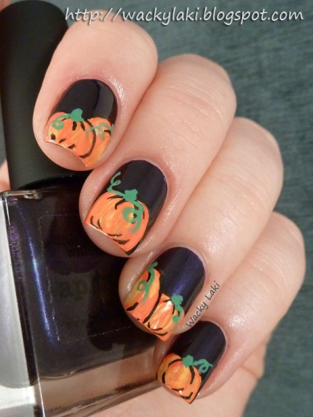 Pumpkins Nail Art Design Inspirations