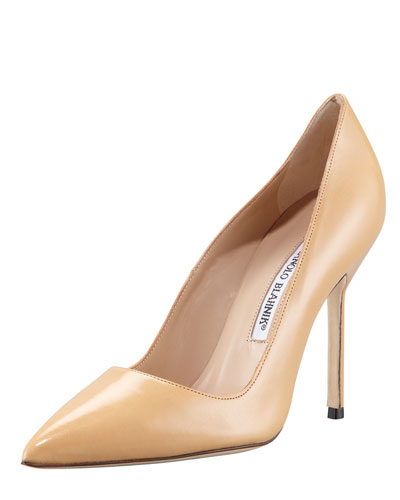 Manolo Blahnik BB Patent Leather Pointed Toe Pumps