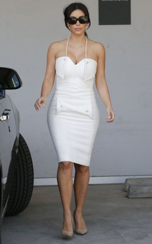Kim Kardashian Halter Dress