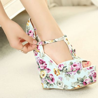 Why Don't You Try Floral Wedges?